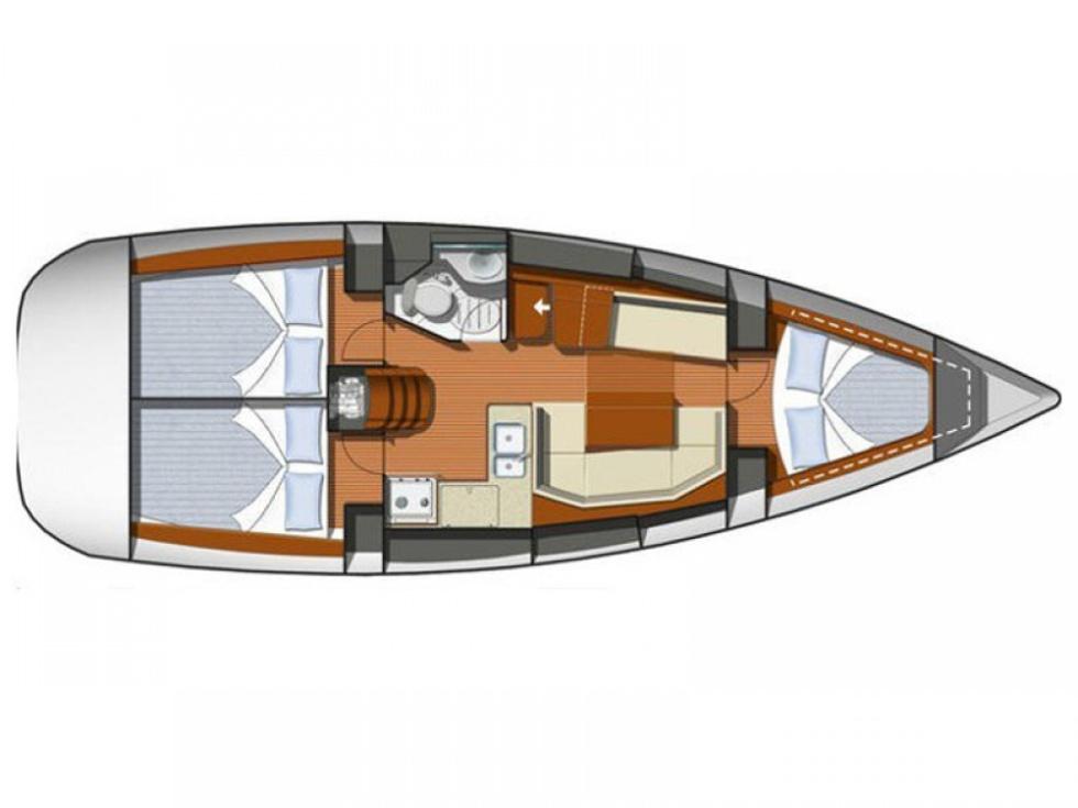 CLORA -  Sun Odyssey 36i - 2012 - 3 cabines + 1 sdb