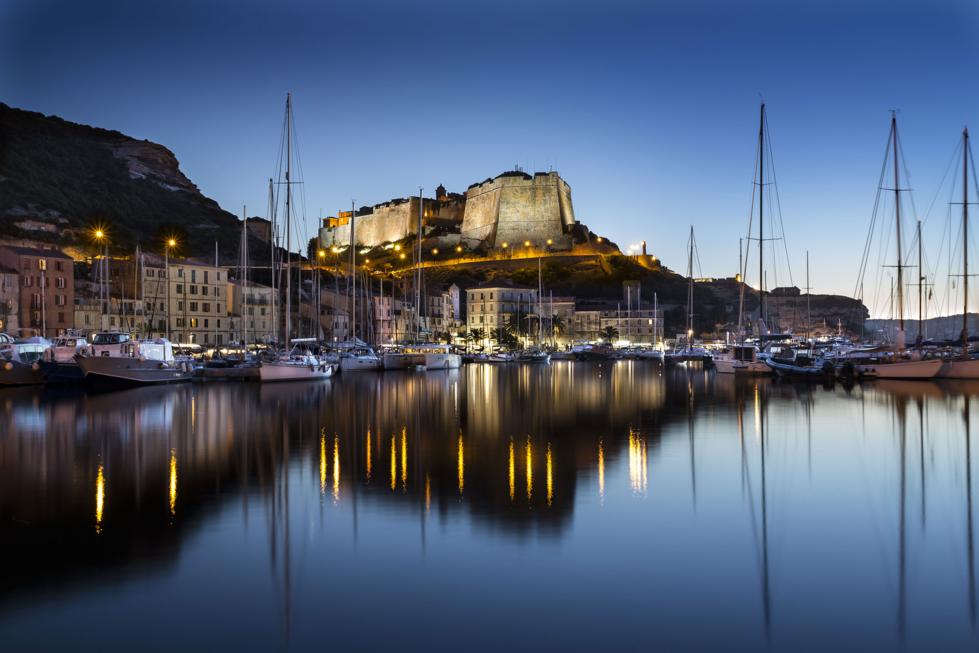 Le port de Bonifacio en voilier